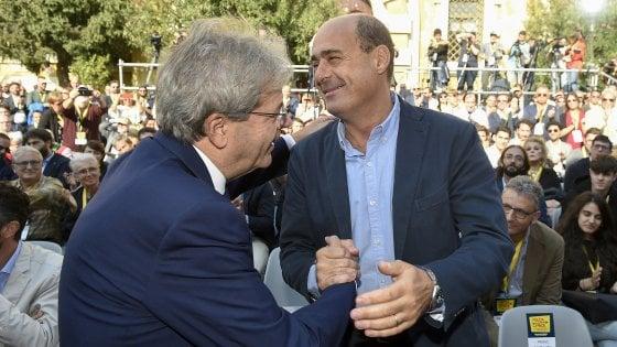 """L'abbraccio tra Zingaretti e Gentiloni alla convention Piazza grande(fotogramma) Il governatore del Lazio pronuncia il discorso che chiude la sua convention: """"Da Salvini su atto immondo"""". E rivolto ai suoi: […]"""