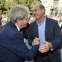 "Pd, Zingaretti: ""C'è un'alternativa all'odio"". Gentiloni: ""Con questo governo in fumo..."