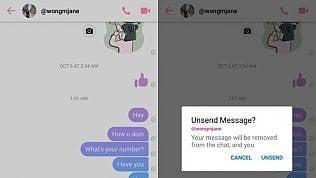 Facebook, presto su Messenger la cancellazione dei messaggi