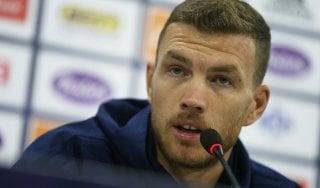 """Roma, Dzeko: """"Tornare in Premier? È tardi, ma non si sa mai"""""""