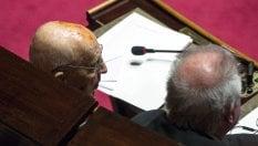 """Napolitano torna in aula dopo malattia. Casellati: """"Esempio per tutti"""" foto"""