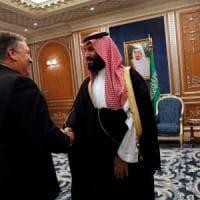 """Khashoggi, MBS vede Pompeo a Riad: """"Usa vecchi e forti alleati, ora e in futuro"""""""