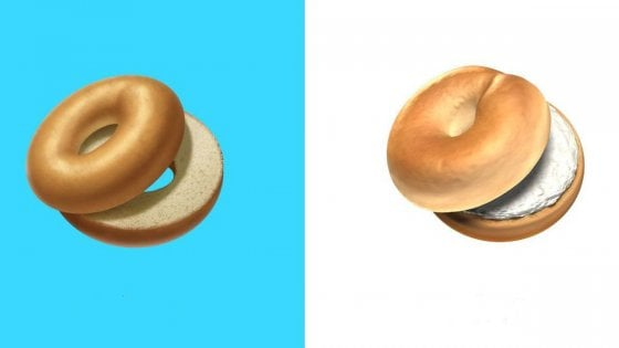 Bagel-story, Apple aggiunge il formaggio all'emoji del panino a ciambella
