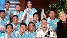 Ibrahimovic entra in studio e sorprende i ragazzi thailandesi della grotta
