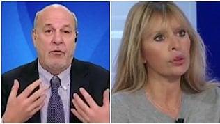 """Mussolini e Friedman si insultano in diretta: """"Povero str..."""" """"Cafona"""""""