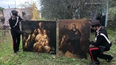 Ritrovati in un casolare di campagna i dipinti rubati nel 2001 in un hotel al quartiere Parioli