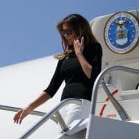 Fumo a bordo dell'aereo, atterraggio di emergenza per Melania Trump