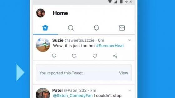 Twitter segnalerà chiaramente un tweet eliminato per aver violato le regole