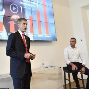 da sinistra Andrea Rossini e Fabrizio Rocchio, che hanno illustrato la nuova rete superveloce Vodafone