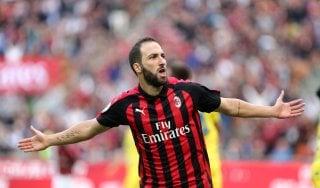 """Milan, Higuain: """"Vincere il derby importante per il nostro futuro"""""""