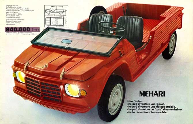 Citroën Méhari festeggia i suoi 50 anni al salone di Padova