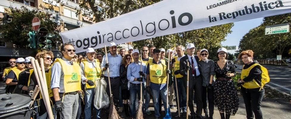 """Operazione città pulite con """"Repubblica"""" in strade e parchi"""