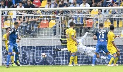 Ucan cancella la doppietta di Ciofani Frosinone-Empoli, pari spettacolo: 3-3