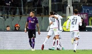Fiorentina-Cagliari 1-1: Veretout non basta, fa festa papà Pavoletti