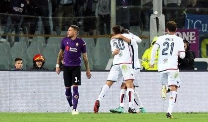 Fiorentina, non basta Veretout  Cagliari ringrazia papà Pavoletti