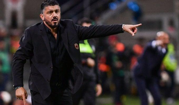 "Milan, Gattuso: ""L'Inter ha meritato, abbiamo avuto paura"""