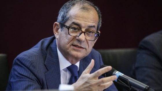 Il ministro dell'Economia e delle Finanze, Giovanni Tria