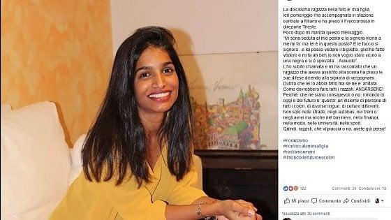 """""""Vicino a una nera non ci sto"""": il gesto razzista contro una ragazza sul treno Milano-Trieste"""