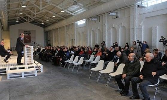 """Il grande spazio """"Crogiolo Marazzi"""", che si anima in occasione di incontri, spettacoli ed eventi diversi"""