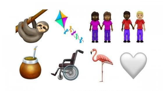 Emoji, ecco le candidate 2019: disabilità, coppie miste e il flamingo
