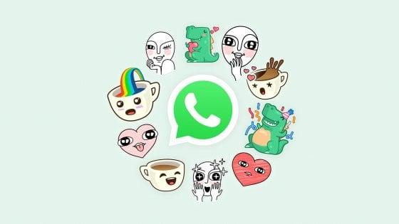 WhatsApp, arrivano gli sticker