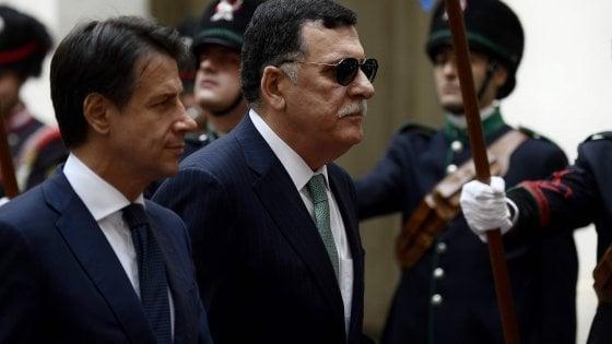 Conferenza sulla Libia, Serraj e Salamé a Roma