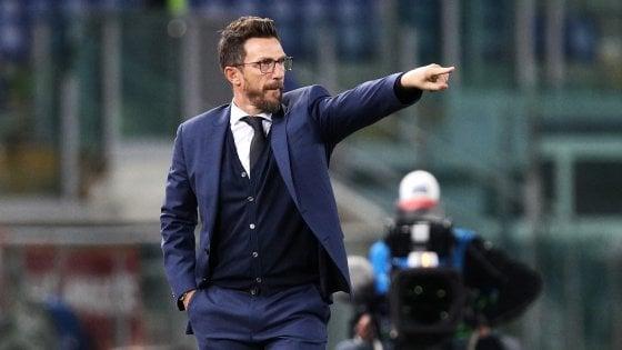 """Roma, Di Francesco: """"Napoli più forte ma basta prendere schiaffi''"""