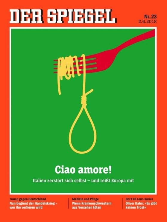 Der Spiegel mette l'Italia (con l'euro) in copertina: Il ricatto