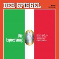 Der Spiegel mette l'Italia (con l'euro) in copertina: