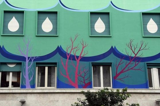A Roma il murales mangia-smog, è il più grande d'Europa