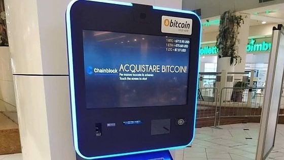 Chainblock, la startup del bancomat di Bitcoin sbarca anche a Roma