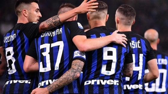 Lazio-Inter 0-3: Icardi trascina i nerazzurri al secondo posto