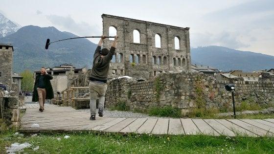 Ad Aosta, seguendo la fiction di Rocco Schiavone