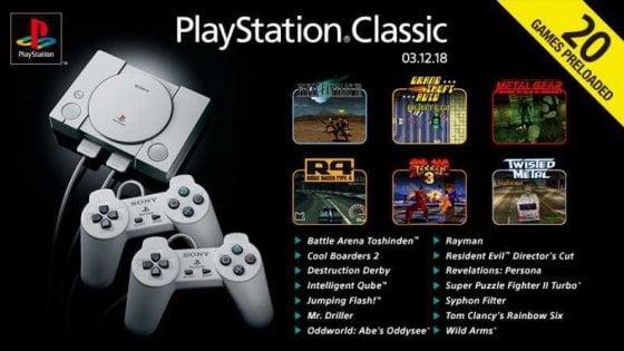 PlayStation Classic, ecco i 20 giochi: ci sono Tekken 3, Gta e Final Fantasy