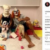 Cristiano Ronaldo fa paura, vestito da mostro con tutta la famiglia per Halloween