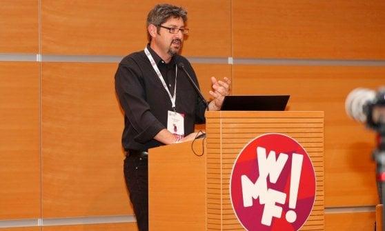 Il presidente di Gnammo Cristiano Rigon al Festival della Crescita di  Rimini, organizzato in occasione del Web Marketing Festival (di cui  Gnammo è stato partner)