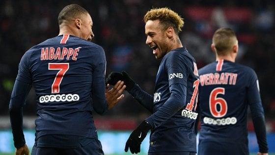 Francia, il Psg si sveglia nella ripresa: Mbappe e Neymar, 2-1 al Lille