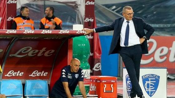 """Empoli, Andreazzoli: """"Basta ingenuità per competere in serie A"""""""