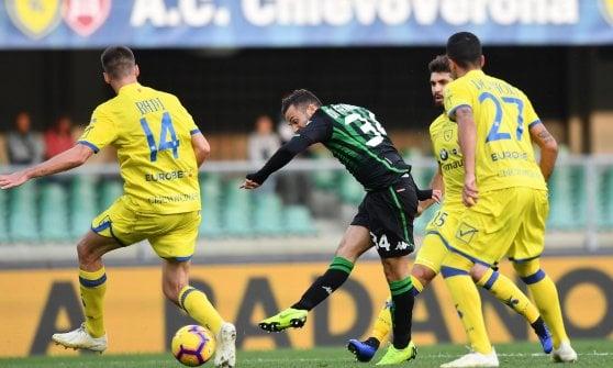 Chievo-Sassuolo 0-2, Di Francesco e un autogol lanciano i neroverdi in zona Europa