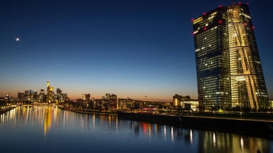 Una veduta della sede Bce a Francoforte
