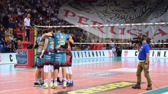 Volley, Superlega: Perugia sempre a punteggio pieno, Civitanova piega Trento