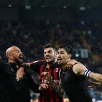Udinese-Milan 0-1: ancora Romagnoli, i rossoneri sbancano il Friuli al 97'