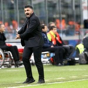"""Milan, Gattuso: """"Meritato di vincere, pallone non pesa più 100 chili"""""""