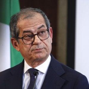 Il ministro dell'Economia Giovanni Tria a Palazzo Chigi