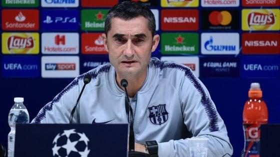 """Barcellona, Valverde: """"Mi aspetto la miglior Inter, Messi da valutare"""""""