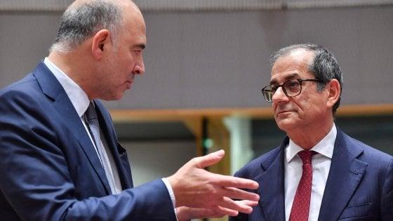 Pierre Moscovici e Giovanni Tria