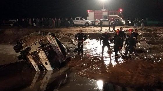 Petra, inondazione travolge il sito archeologico in Giordania