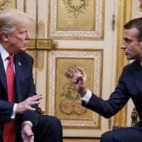 Dopo le tensioni, toni concilianti tra  Macron e Trump