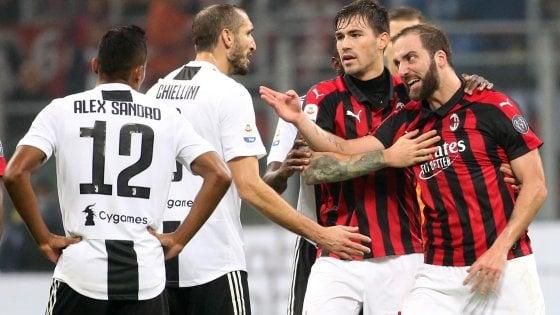 """Milan, Gattuso: """"Juve più forte"""". Mea culpa Higuain: """"Chiedo scusa, non sono un robot"""""""