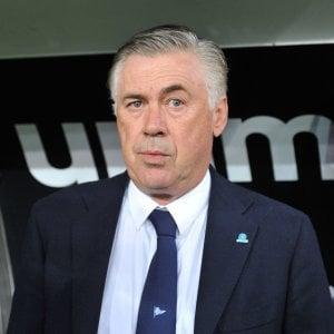 """Napoli, Ancelotti: """"Stop alle gare se ci sono insulti dagli spalti"""""""